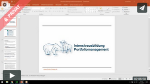 Intensivausbildung Portfoliomanagement